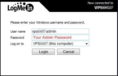 Server 2008] Remote Connection Using LogMeIn Service